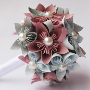 Hago ramos kusudama de papel para bodas