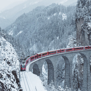 I Woke Up At 5am To Capture A Train Crossing The Landwasser Viaduc, Switzerland