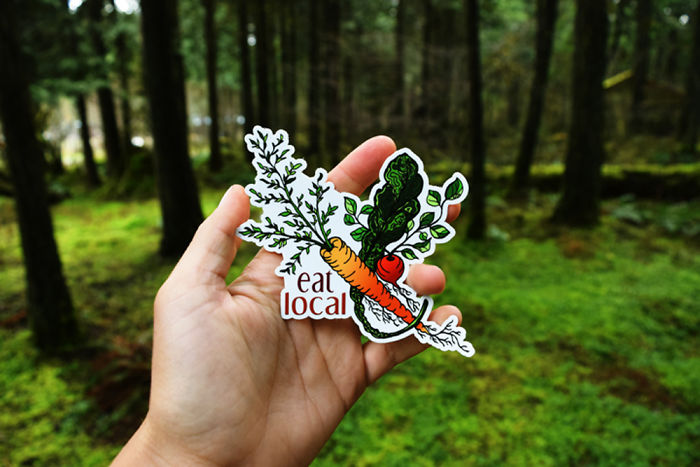 Eat Local Sticker