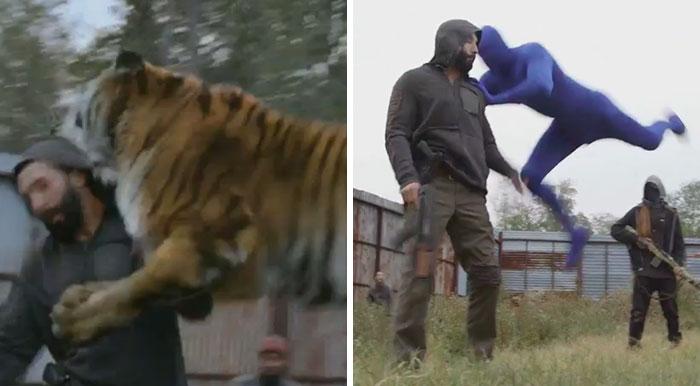 """Tras ver esto, nunca mirarás igual al tigre de """"The Walking Dead"""""""