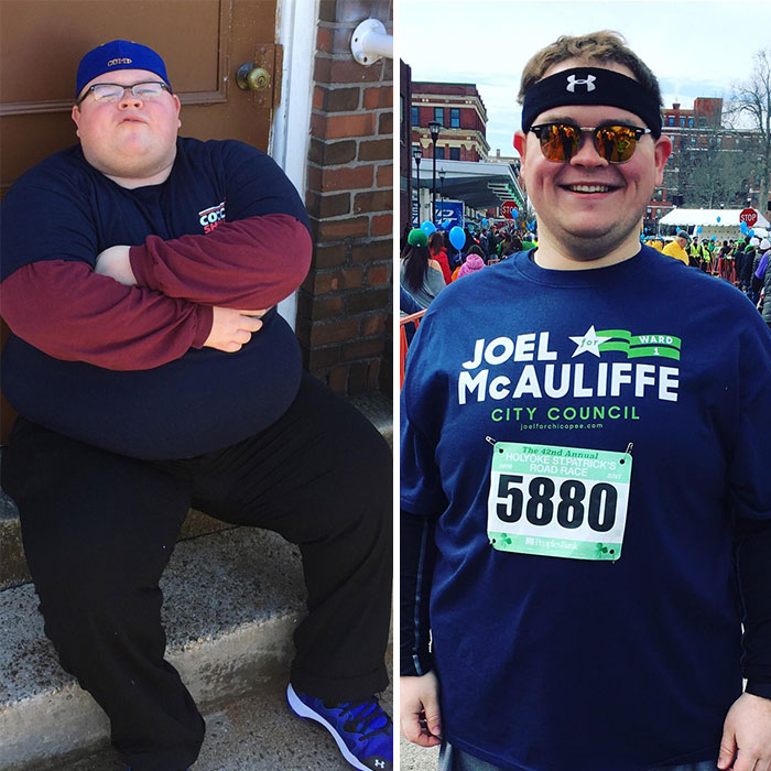 One Year And 200 Pounds Later. I Went From Not Being Able To Stand As A Spectator To Running The Same 10k