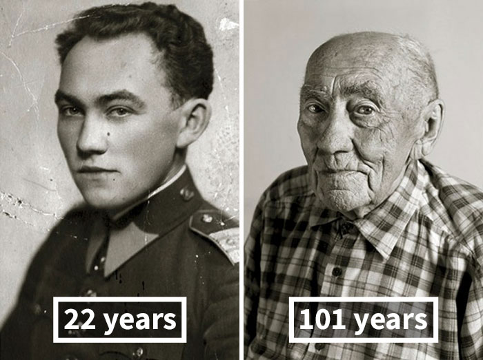 Prokop Vejdělek, 22 Years Old (Oath Of Enlistment), 101 Years Old