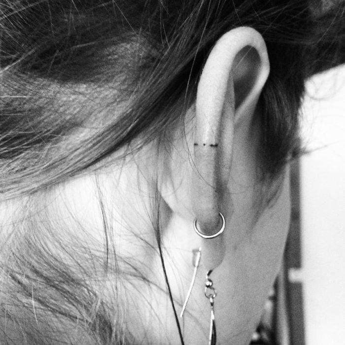 Helix Ear Tattoos