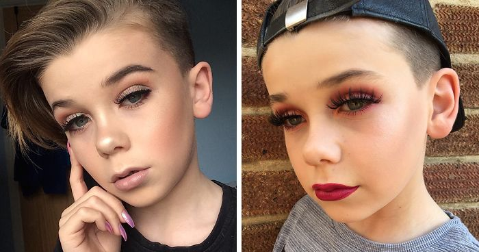 10-Year-Old Becomes Internet Sensation For His Awesome Make-Up Skills