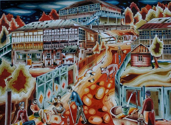 Georgian Artist Creates Intricate Paintings Inspired By His Birthplace