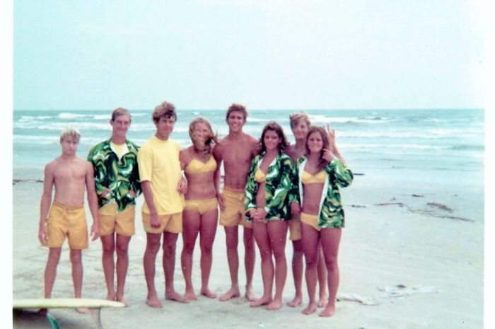 My Mom And Her Surf Team When She Was In High School (she Is 2nd From The Right). She Still Surfs Nearly Every Day.