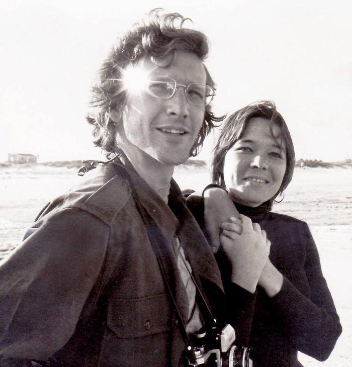 Mom And Dad On Vilano Beach, St. Augustine Fl 1968