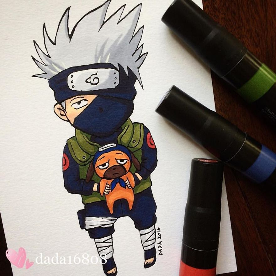 i drew main characters of the anime series naruto online relaxing