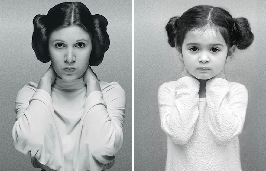 Carrie Fisher y scout
