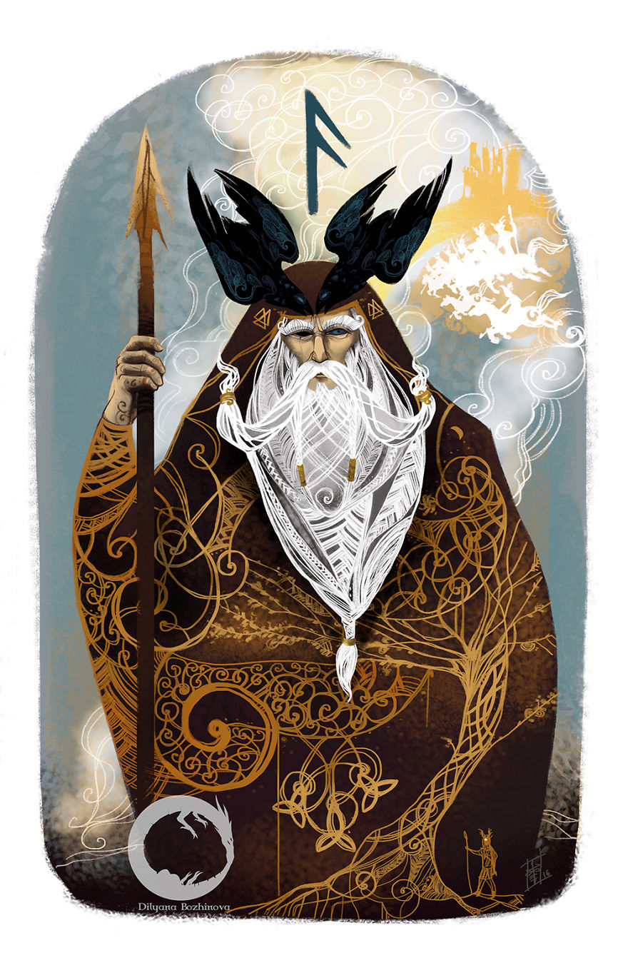 Ansuz-God, Inspiration, Speaking. Dedicated To Odin