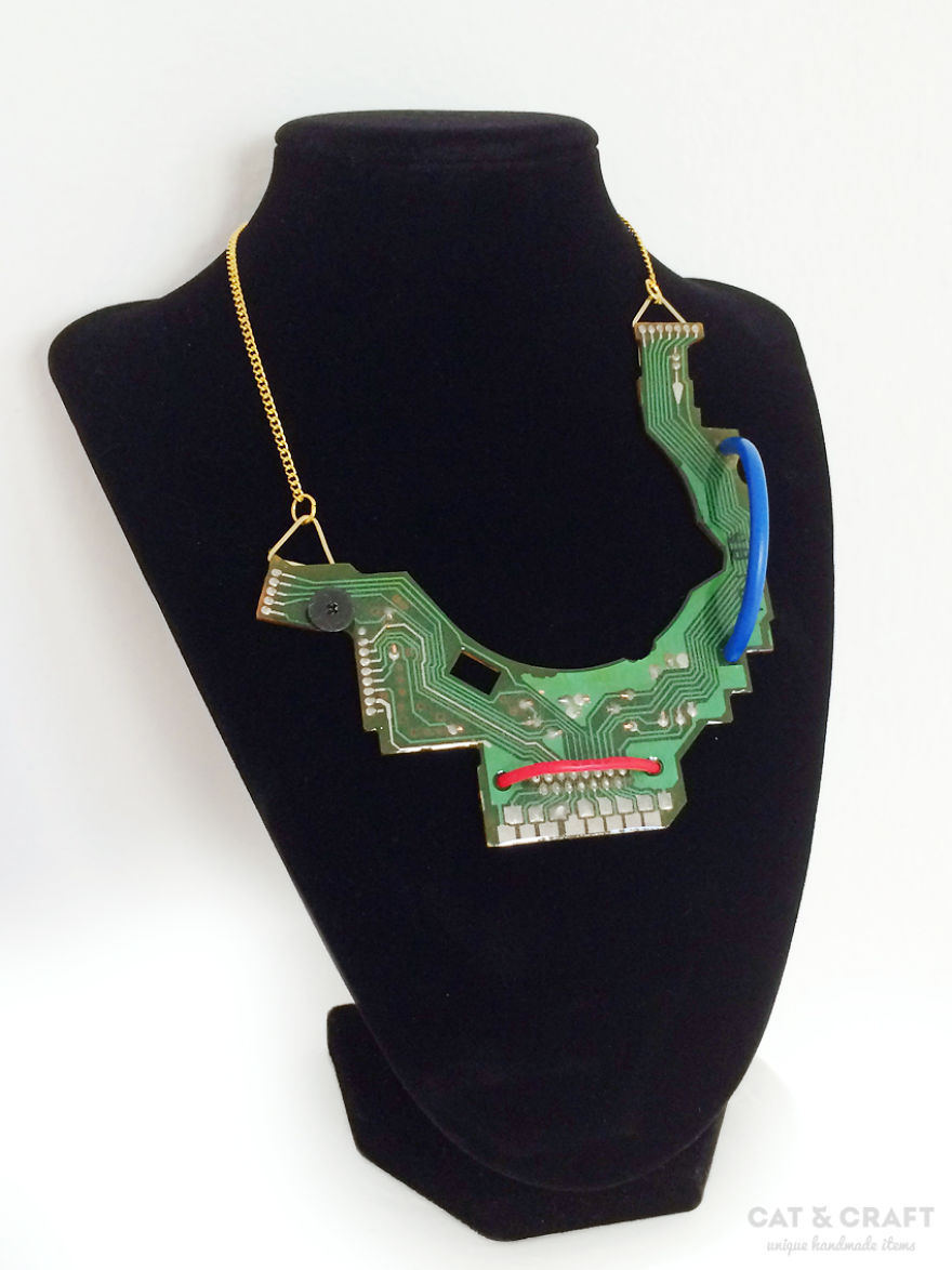 I Make Unique Geeky Jewelry Out Of Recycled Computers