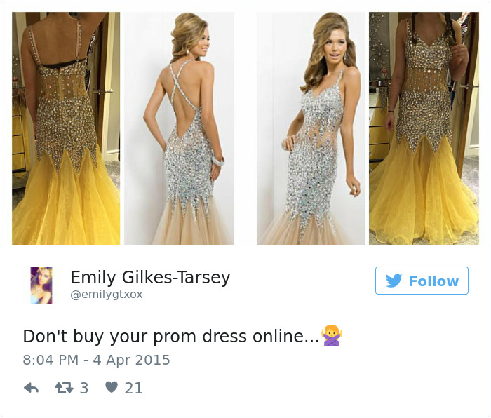 your prom dress