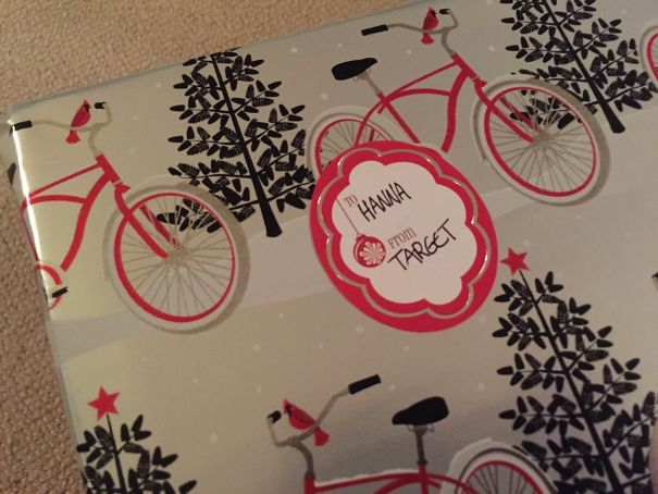 My Mom Spaced Out While Wrapping Gifts This Year... Guess I Know Where She Got This One