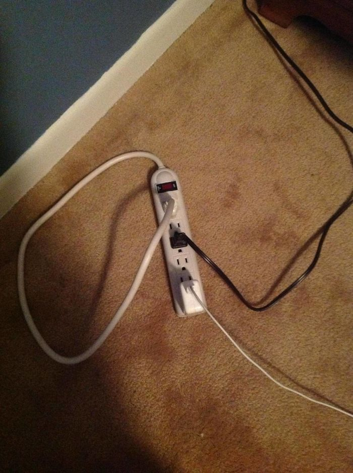 My Mom Told Me That Our New Power Strip Wasn't Working... Came To Find This