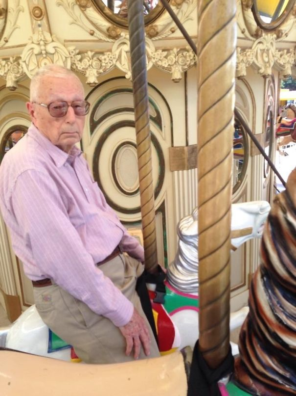 My Sister Somehow Got My Grandfather On The Carousel