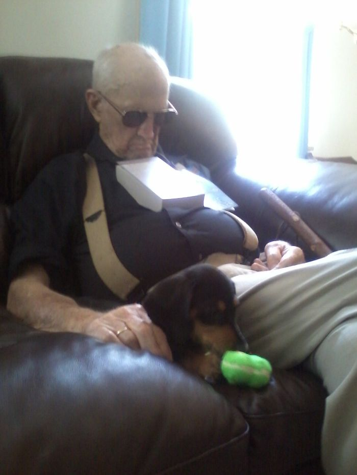 When Asked Why He Got A Puppy At 93 Years Old, My Great Grandfather Responded