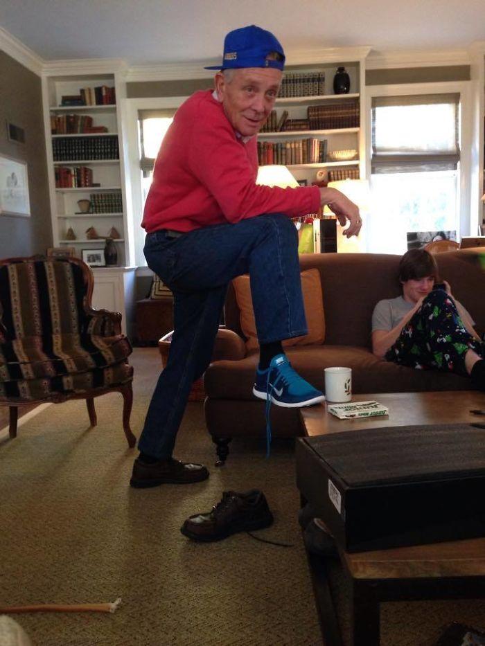 Mi abuelo se cree que está a la onda