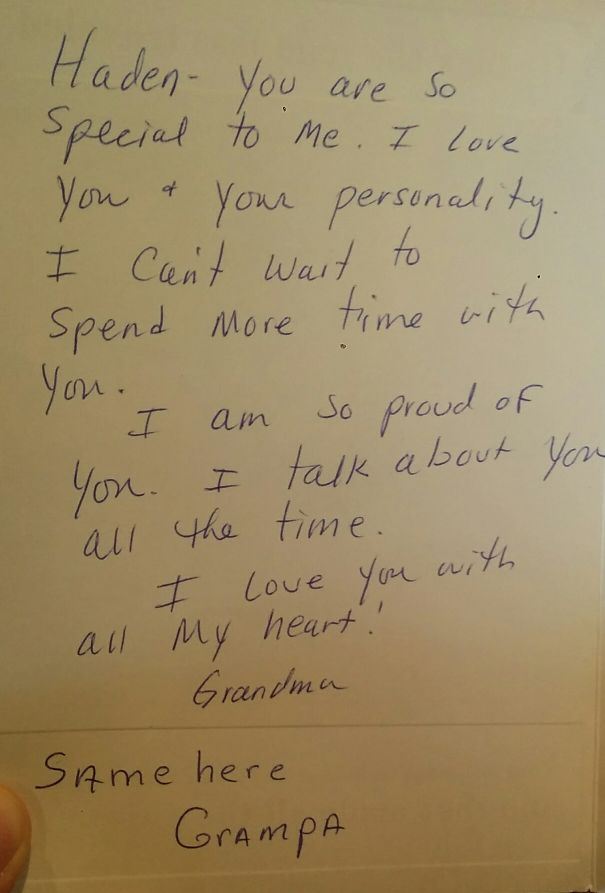 I Received A Birthday Card. Thanks 'grampa'