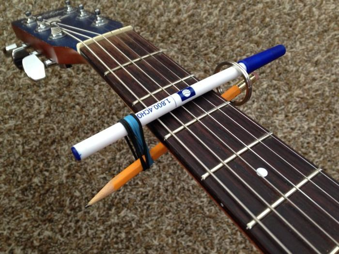 Had No Capo So I Improvised With What I Got And Created This