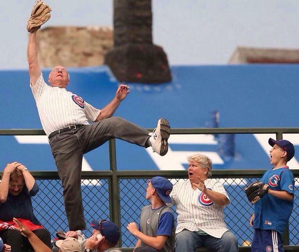 Catching A Home Run Ball