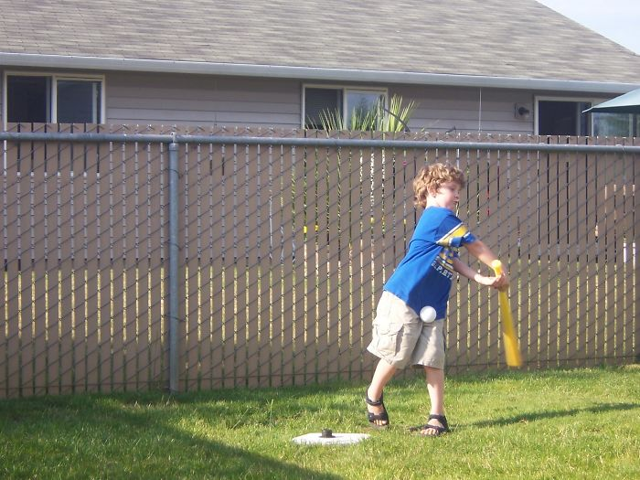 My Son Can Sum Up Our Family's Athletic Ability In One Photo