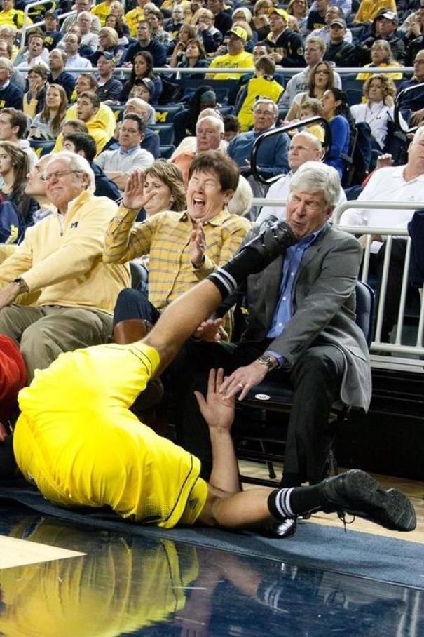 Governor Of Michigan, Rick Snyder, Getting Kicked In The Face
