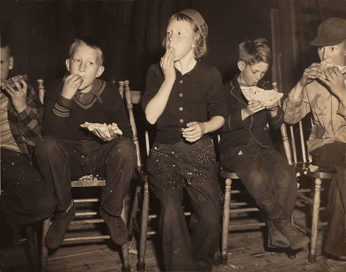My Mom Winning The Pie Eating Contest By Beating All The Boys, Around 1950