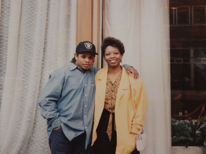 My Mom Posing With Eazy-e Outside Of A London Hotel In The Late 80's