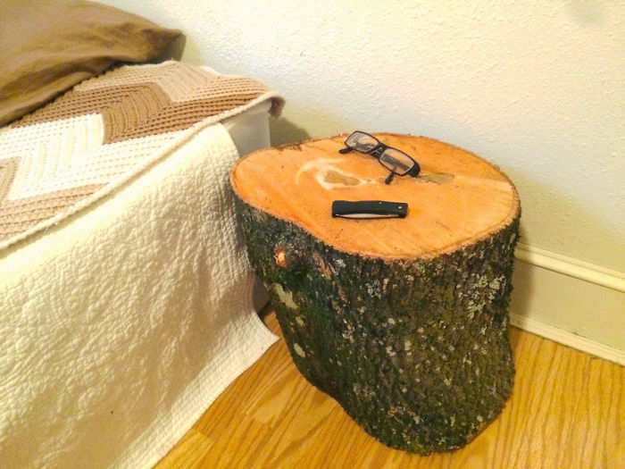I Turned A Log Into A Nightstand By Doing Absolutely Nothing