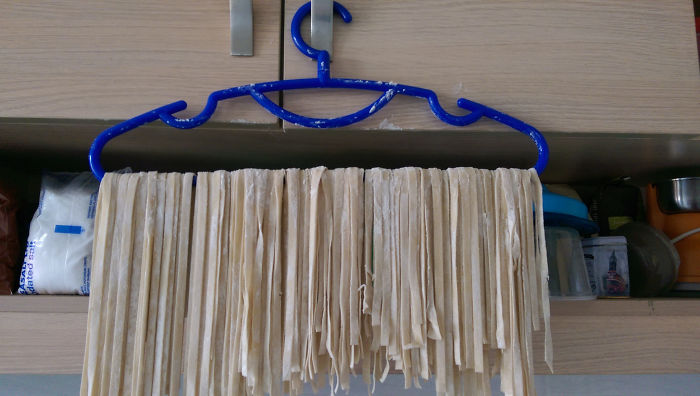 Decided To Make Homemade Pasta And Realized I Didn't Have A Drying Rack