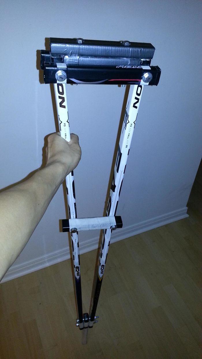 Homemade Canadian Crutch