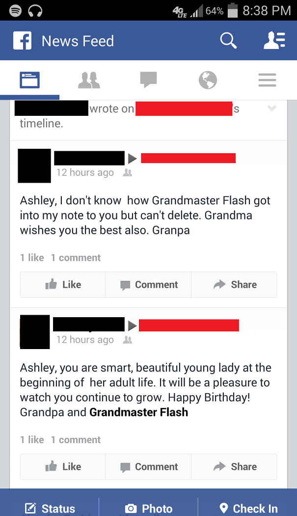 Grandpa And Grandmaster Flash