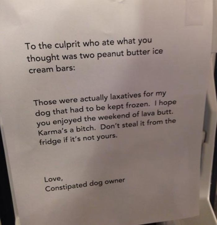 Don't Steal It From The Fridge