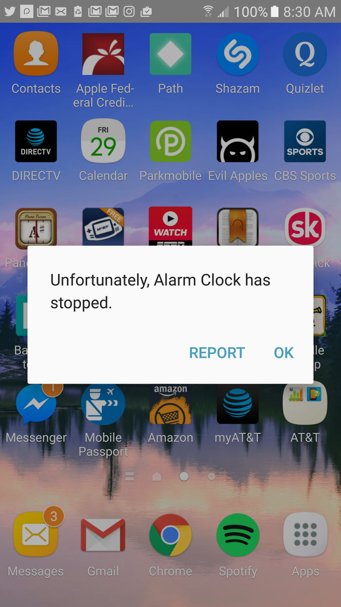 Woke Up Late To This Message. Alarm Clock, You Had One Job...