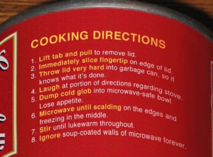 Accurate Soup Instructions