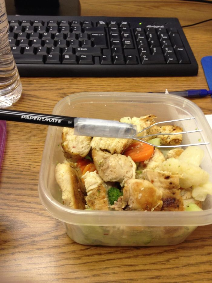 I Forgot My Fork At Home... Does This Count As A Hack?