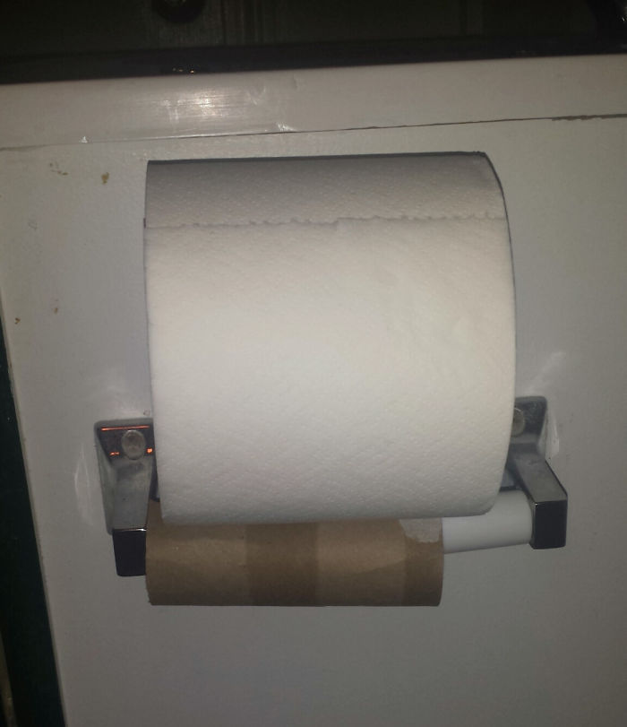 When People Do This Instead Of Just Replacing The Roll.