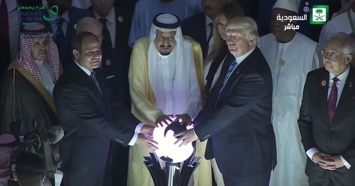 Image result for saudis and trump magic ball