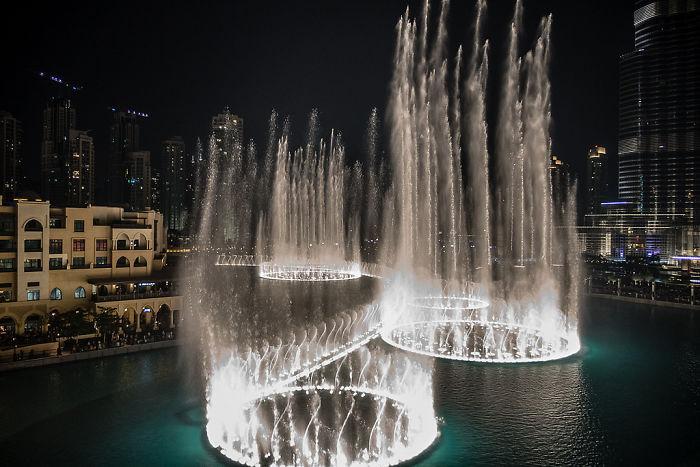 Fuente de Dubai, Emiratos Árabes