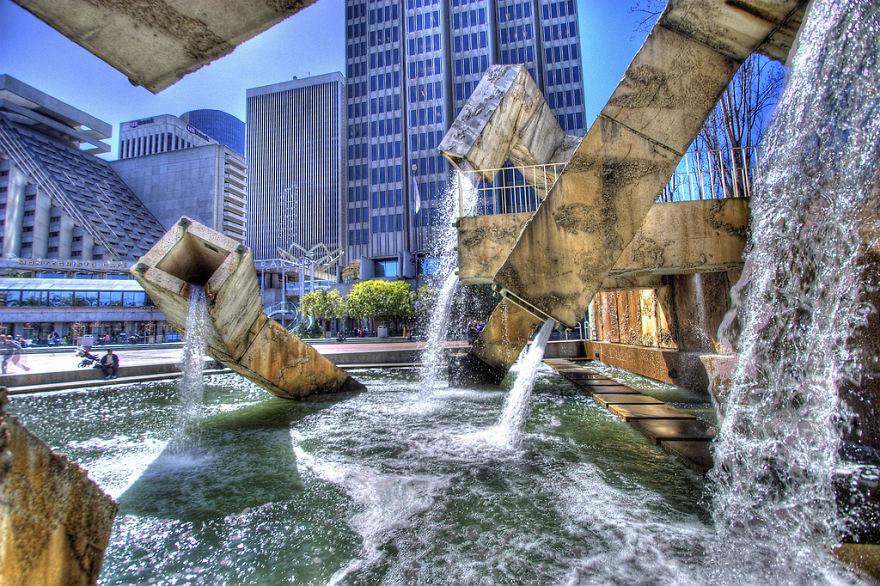 Vaillancourt Fountain, San Francisco, California, USA