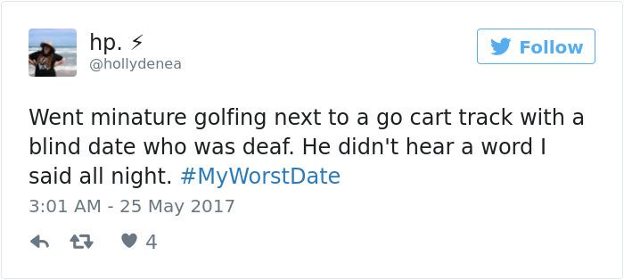 Funny #myworstdate Tweets