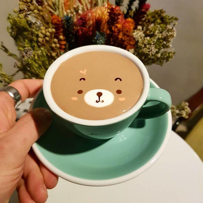Artistic Barista From Korea Who Draws Art On Coffee.