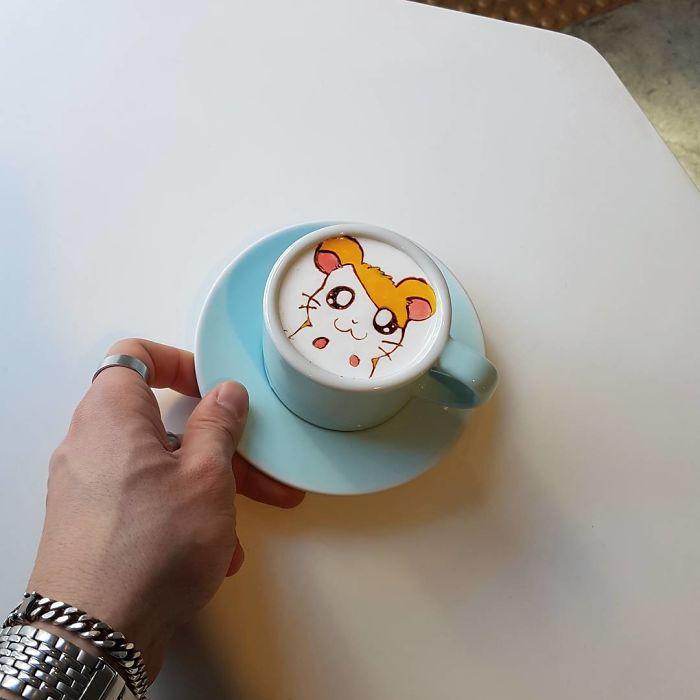 Художественные Бариста От Кореи Кто рисует искусство на кофе.