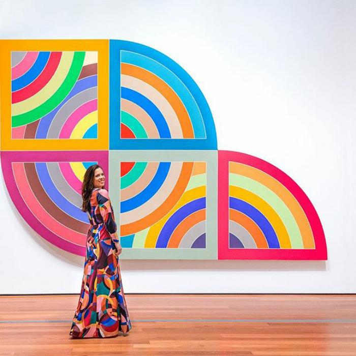 Life In Technicolor At Frank Stella: A Retrospective  