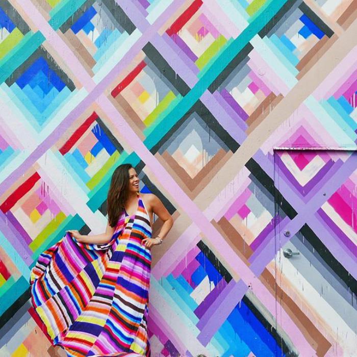 Maya Hayuk At Wynwood Walls In Wynwood, Fl