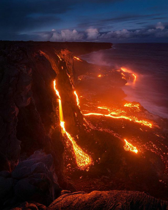 The Lavafall From The Big Island Of Hawaii
