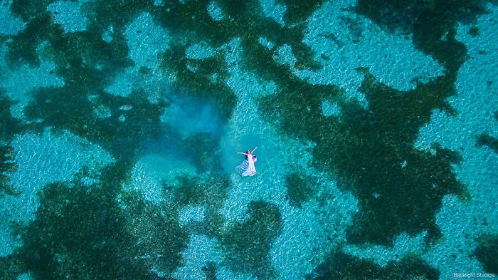 Aerial Wedding Photography Shot With Drone