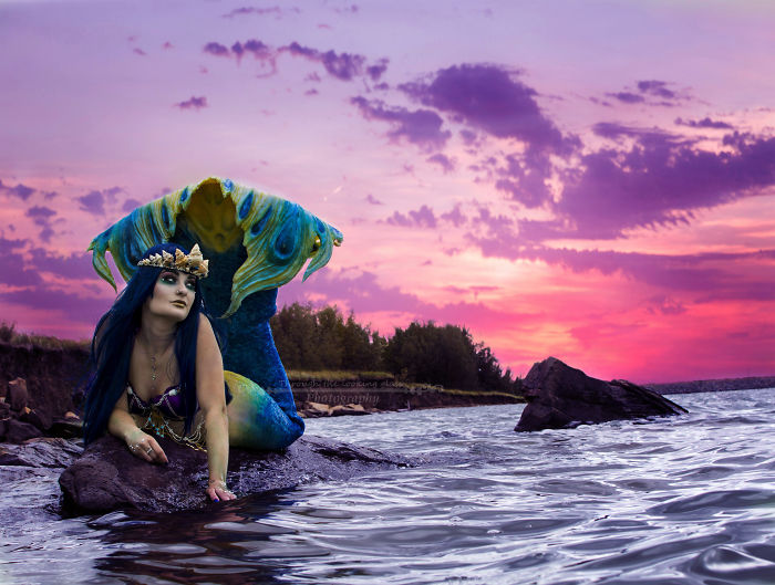 Canadian Woman Spends Hundreds Of Hours Making Mermaid Dreams Come True!