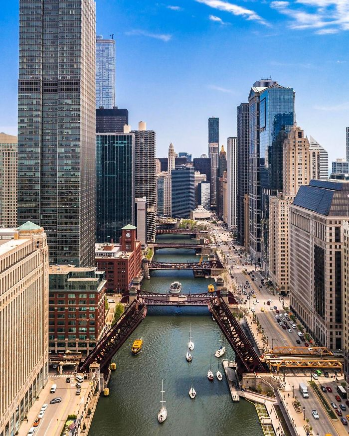 Chicago From Above: Awesome Bumblebee Photograph By Razvan Sera