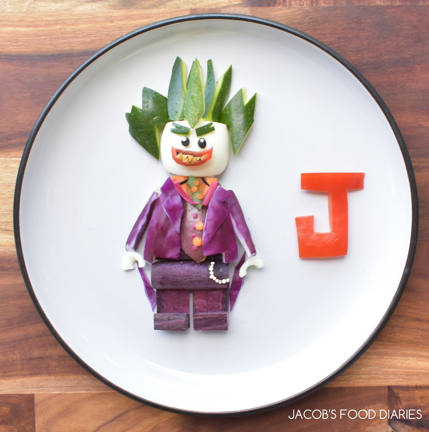 Joker From The Batman Lego Movie - Egg With Vegetables